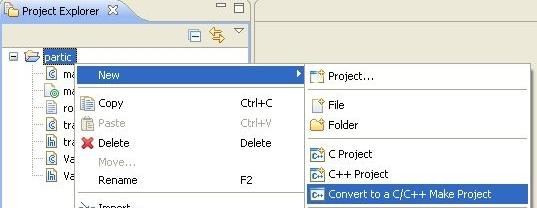 convert to makefileproject